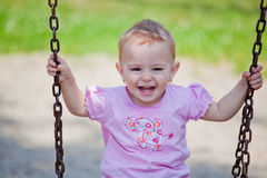 Baby Girl Outdoor Royalty Free Stock Photo