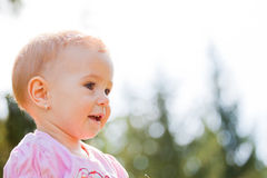 Baby girl outdoor Stock Photos