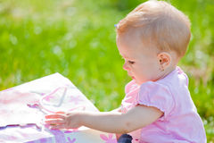 Baby girl outdoor Stock Photography