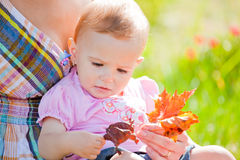 Baby girl outdoor Royalty Free Stock Photos
