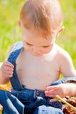Baby girl outdoor stock photo