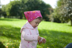 Baby Girl Outdoor Stock Photography
