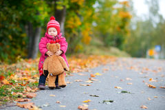 Baby girl outdoors Royalty Free Stock Photography