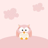 Baby girl owl background Royalty Free Stock Photo
