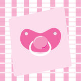 Baby Girl Pacifier Royalty Free Stock Photography