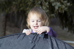 Baby girl in a park Royalty Free Stock Photo