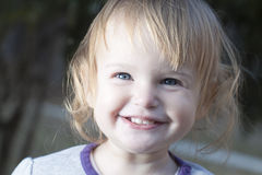 Baby girl in a park Royalty Free Stock Photos