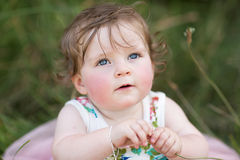 Baby Girl in Park Stock Photo