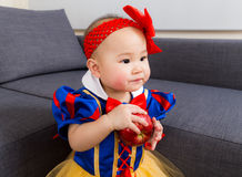 Baby girl with party dressing Royalty Free Stock Photo