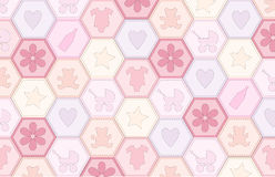 Baby girl patchwork royalty free illustration