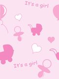 Baby girl pattern. Vector background royalty free illustration