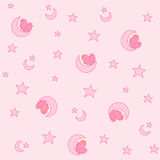 Baby girl pattern Stock Image