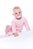 Baby girl in pink Royalty Free Stock Photo