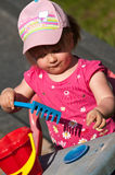 Baby girl in pink Royalty Free Stock Image
