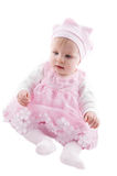 Baby girl in pink dress Royalty Free Stock Photos