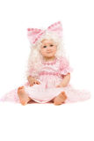 Baby girl in a pink dress Royalty Free Stock Image