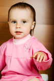 Baby girl in pink dress Royalty Free Stock Image
