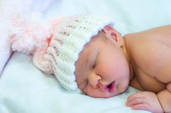 Baby Girl In Pink Stock Photo