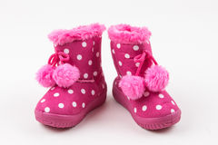 Baby girl pink shoes Stock Images