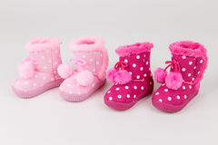Baby girl pink shoes Royalty Free Stock Image