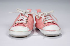 Baby Girl Pink Sneakers Stock Photos