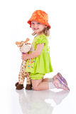 Baby girl play with toy Stock Photography