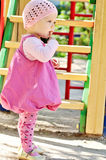 Baby girl on the playground Royalty Free Stock Image