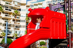 Baby girl on a playground Royalty Free Stock Photography
