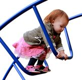 baby girl on the playground Royalty Free Stock Images