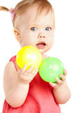 Baby girl playing Stock Photo