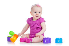Baby girl playing Royalty Free Stock Photography