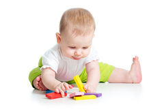 Baby girl playing Royalty Free Stock Photo