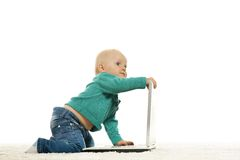 Baby girl is playing Stock Image