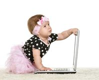 Baby girl is playing Royalty Free Stock Images