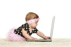 Baby girl is playing Royalty Free Stock Photography