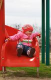Baby girl playing time Royalty Free Stock Image