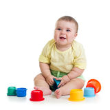 Baby girl playing with toys Royalty Free Stock Photography