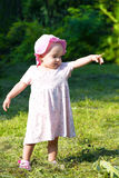 Baby girl pointing Royalty Free Stock Photos