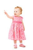 Baby girl pointing on something Royalty Free Stock Photography