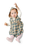 Baby girl pointing up Stock Photography