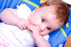 Baby girl portrait Royalty Free Stock Photos
