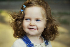 Baby girl portrait. Beautiful baby girl happy portrait Stock Images