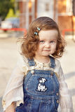 Baby girl portrait. Baby girl  in summer  day.  Portrait Royalty Free Stock Photos