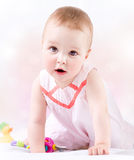 Baby Girl Portrait Stock Image