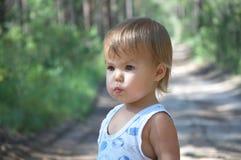 Baby girl portrait stock photography