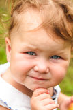 Baby girl portrait outdoor Stock Photography
