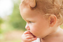 Baby girl portrait outdoor Royalty Free Stock Photos