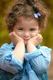 Baby girl portrait outdoor in spring Stock Photos