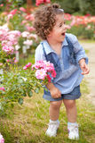 Baby girl portrait outdoor in spring Stock Photography