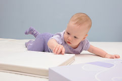 Baby girl posing Stock Images